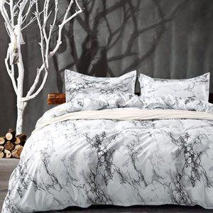 3 pcs Marble Printed Queen Bedding Duvet Cover Set